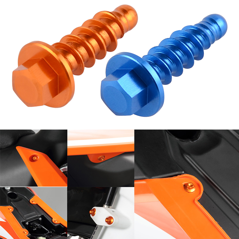 Fork Shock Absorber Adjusters Knob Bolts For KTM 250 SX SXF SXS MXC EXC Six Days
