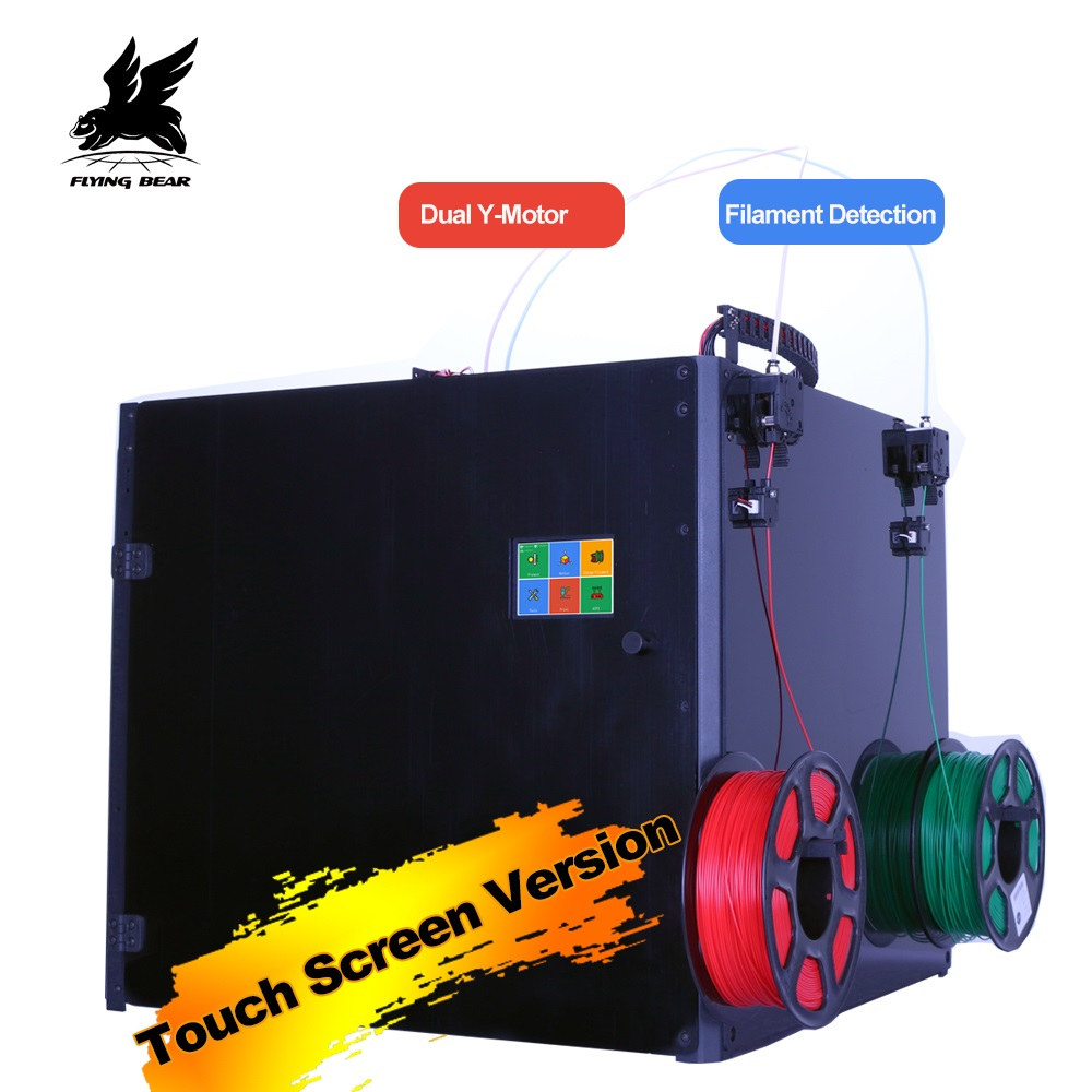 Atividade Flyingbear Tornado 2 Pro grande Impressora 3d DIY Full metal Kit Precisão trilho Linear impressora 3d dupla extrusora