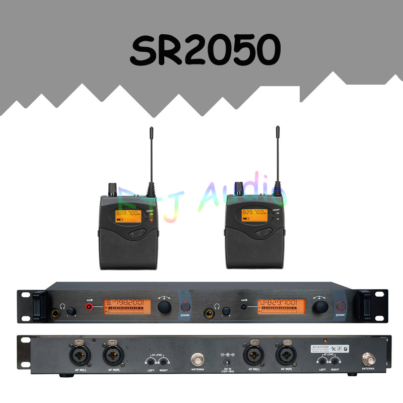 In Ear Monitor Wireless System Professional for Stage Performance SR2050 IEM With 2 Receiver