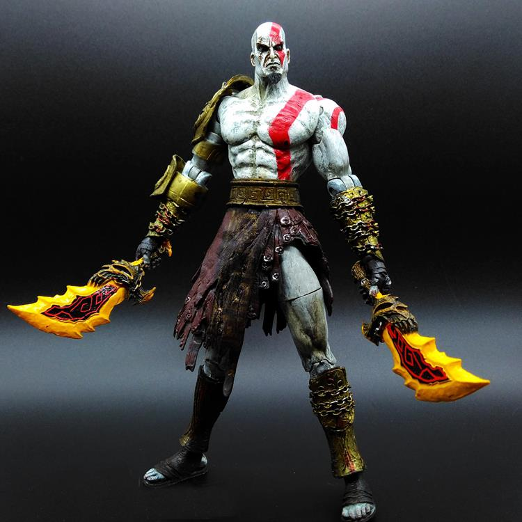 1pcs/set Kratos 3 God of war Ghost of Sparta PA Play Arts Kai GOD OF WAR 3 Superhero Avengers PVC 20cm Predators Figures