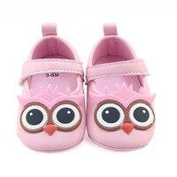 High Quality Bebe Cute Cartoon Owl Crib Newborn Infant Toddler First Walkers Soft Soled Footwear Prewalker Fashion Baby Shoes