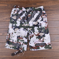 2016The NewOFF-WHITE Virgil Abolh Shorts Pyrex Version Casual Men mesh  Crack military camouflage pattern off white