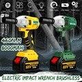 ¡Sin escobillas sin llave de impacto eléctrica 68 V 8000 mAh 460N! m con 2 baterías 1 cargador taladro de mano de instalación de herramientas