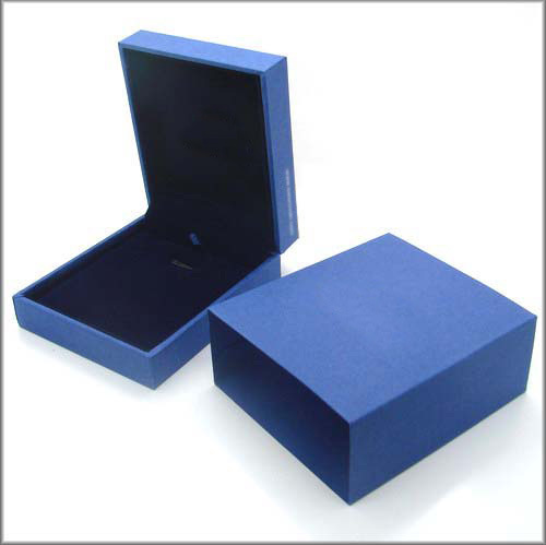 Custom Made High grade Jewelry Box Blue Plastic Gift BoxPacking