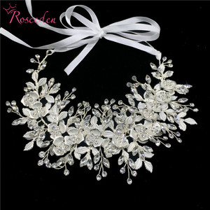 Image 3 - 愛きょう女性の結婚式のクリスタルヘッドバンドヘッドピースのヘアアクセサリージュエリー花嫁の花のラインストーンティアラ RE3247
