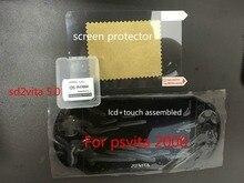 Con protezione libera dello schermo e sd2vita 5.0 per originale 100% nuovo per psvita per ps vita 2000 lcd display dello schermo assemblato