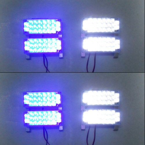 Car 8x22 176LED Strobe Flash Warning EMS Police  Light Flashing Firemen Lights 8*22 Red Blue White Green Amber Yellow