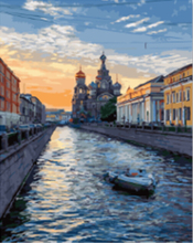 """DIY Painting By Number – Canal (16""""x20"""" / 40x50cm)"""
