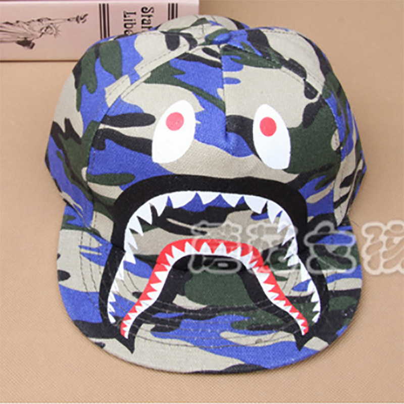 b035fc0192b bape hats 2015 shark eyes printing boy girl baby baseball caps hip hop  Kawaii fashion bape caps -in Hats   Caps from Mother   Kids on  Aliexpress.com ...