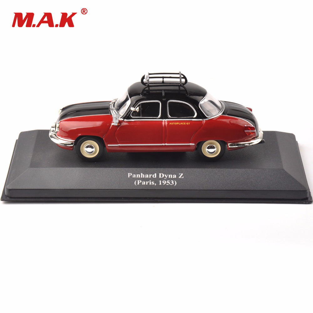 <font><b>1:43</b></font> car toys diecast <font><b>IXO</b></font> red classic taxi model Panhard Dyna Z (Paris ,1953) vehicle car gift for children kids image