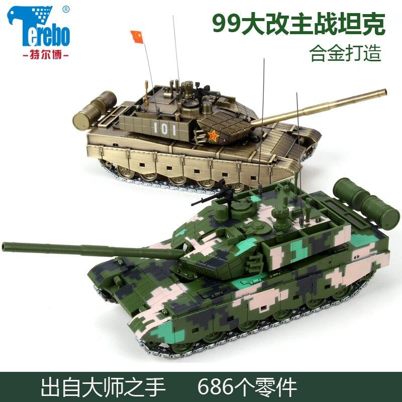 Nouveau modèle militaire 1/50 échelle jouets chine 99A réservoir moulé sous pression en métal modèle de véhicule militaire jouet pour Collection/cadeau