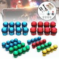 2 Players DIY Arcade Joystick Kits With 20 LED Arcade Buttons + 2 Joysticks + 2 USB Encoder Kit + Cables Arcade Game Parts Set