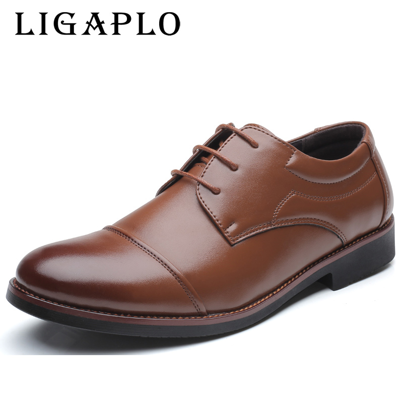 Leather Mens Dress Shoes, High Quality Oxford Shoes For Men, Lace-Up Business Men Shoes, Brand Men Wedding Shoes