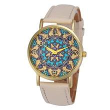 Women's watches Relogio feminino Saat Retro 2017 Women Faux Leather Analog Quartz Wrist Watch Quartz Wrist Watch for women