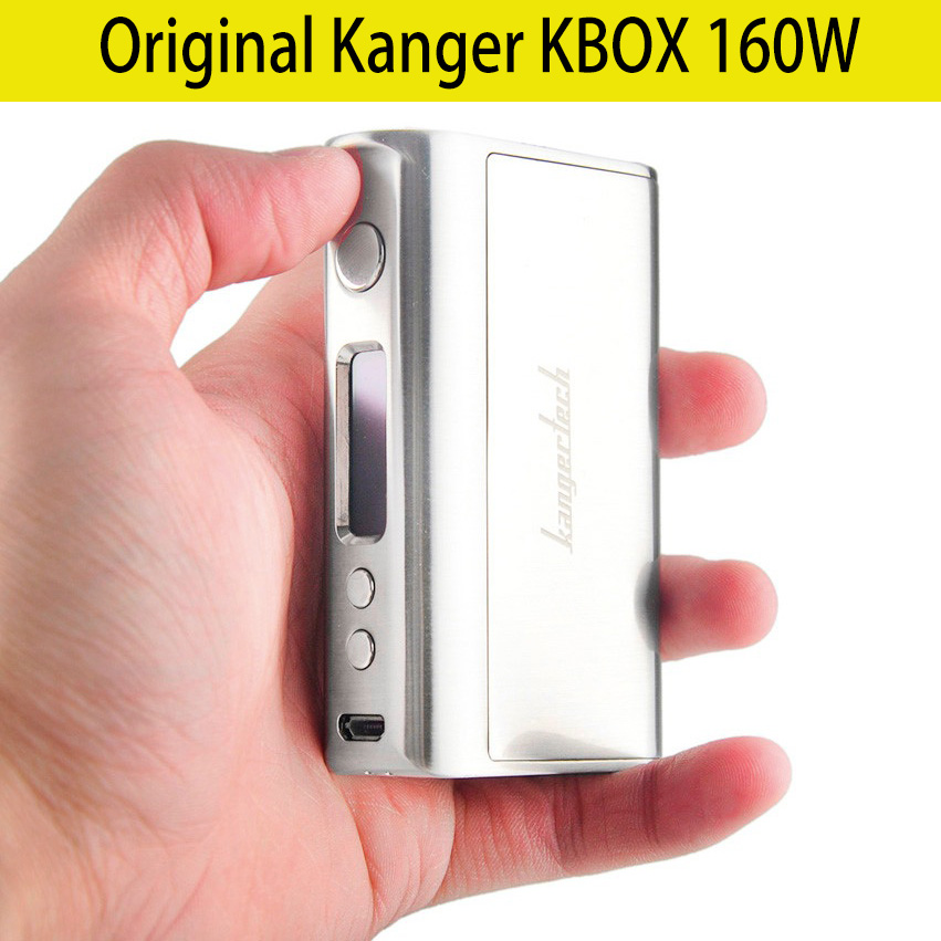 цена Original Kanger KBOX 160W TC VV/VW Box Mod Supports Ni/Ti/SS/NiCr Powered Fit 18650 Battery in Stock