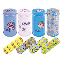 20Pcs Cartoon Waterproof Iron Box Band-aid Cute Breathable Medical Hemostatic Stickers Mini Children Adhesive Bandages