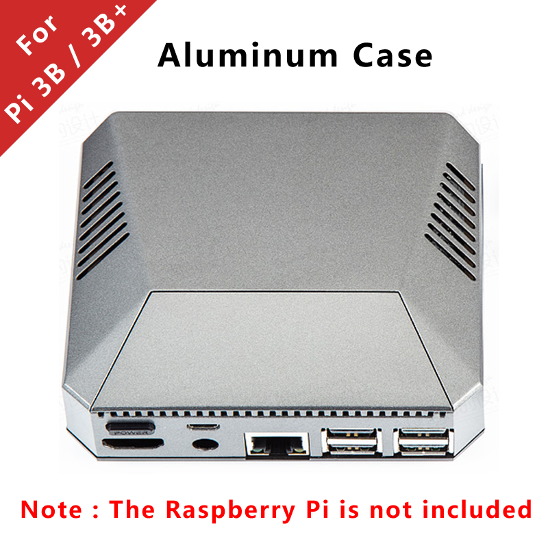 For Raspberry Pi 3 Aluminum Case Silver Customized Metal Box Enclosure compatible with Raspberry Pi 3 Model B 3B PlusFor Raspberry Pi 3 Aluminum Case Silver Customized Metal Box Enclosure compatible with Raspberry Pi 3 Model B 3B Plus