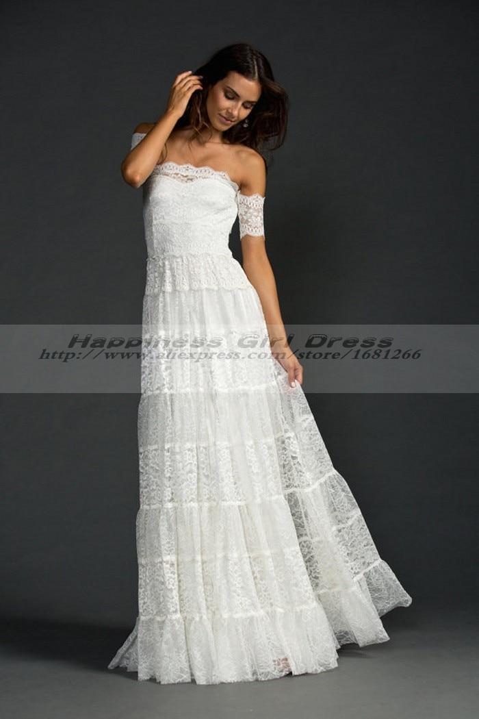 Online Shop Bohemian Style Wedding Dress Boho Hippie Wedding
