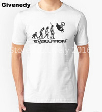 bicycle motocross evolution BMX Men T Shirt Short Sleeve Casual cotton t-shirt Men Rock Boy cycle Tops Free Shipping