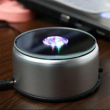 HobbyLane 4 LED Base lumineuse lumière colorée Base ronde pour Cocktail cristal verre Transparent objets affichage