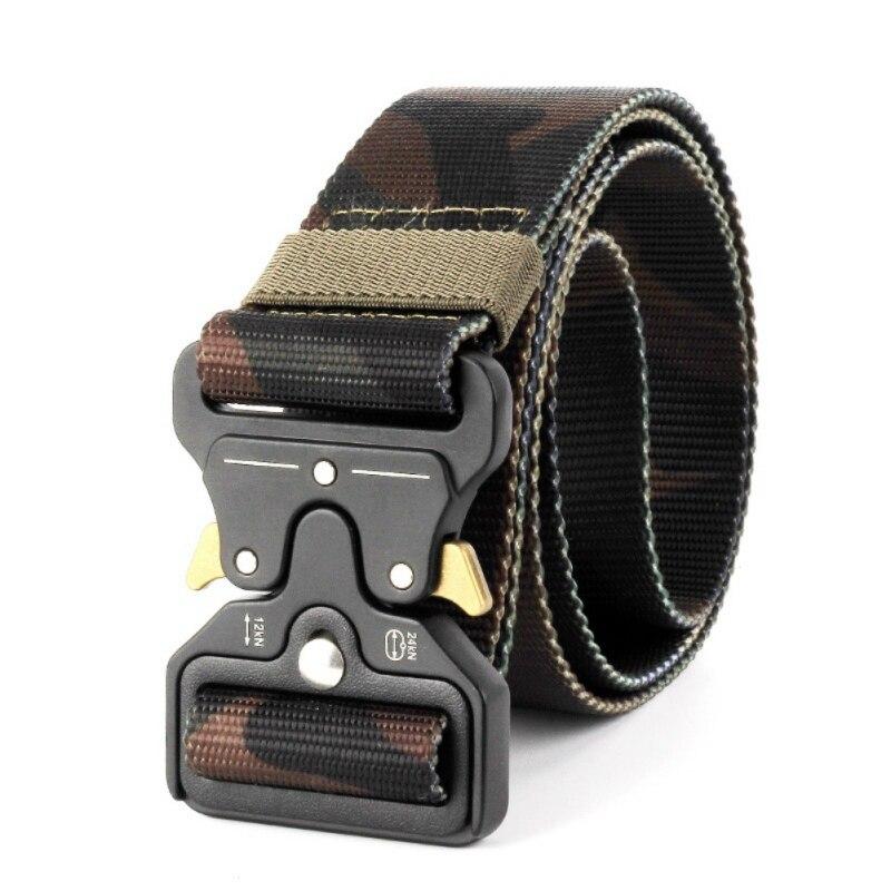 outdoor belt protectorCross-grain enhanced nylon tactical belt 7 Color Tactical Gear Heavy Duty Belt  Tactical Hunting Accessori