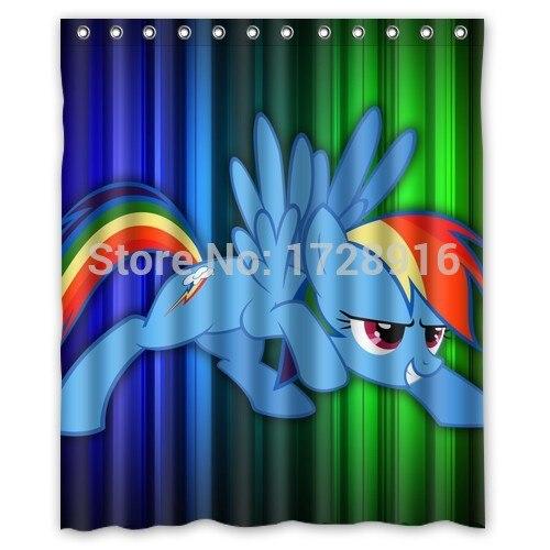 Bon Custom Polyester Waterproof Bath Curtains Funny My Little Pony Shower  Curtains 60x72 Inch Bathroom Decor