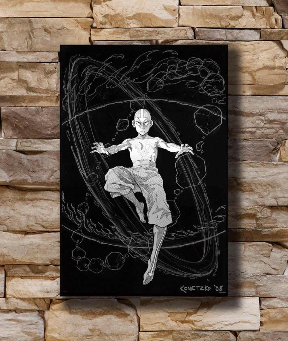 """Aang Fight Japan Anime 14/""""x20/"""" Poster 188 Avatar The Last Airbender"""