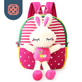 Kids School Bag Canvas Girl Backpacks with removable toy children stuffed animal