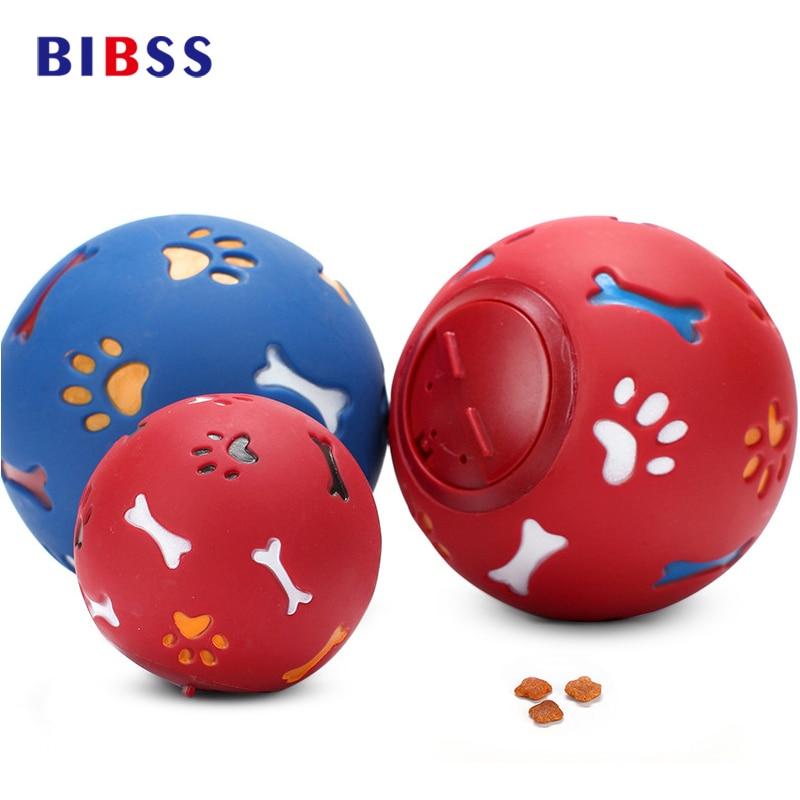 Igračke za pse igračke otporne na gristi pse pukotine kuglice crvene i plave mlijeko okus interaktivne igračke