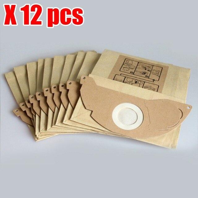 החלפת שקיות אבק שואב אבק parper 12 יחידות עבור Karcher A2000 2003 2004 2014 2024 2054 2064 2074 S2500 WD2200 2210 2240