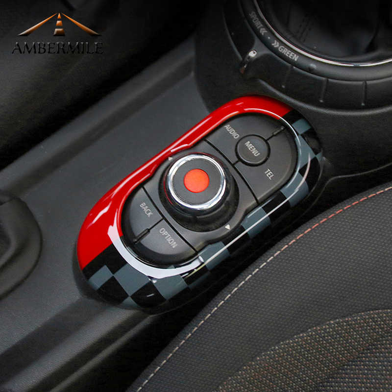 AMBERMILE ABS voiture intérieur Console centrale multimédia panneau couverture garniture décoration autocollant pour Mini Cooper JCW F55 F56 accessoires