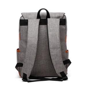 Image 3 - Vintage Fashion Women Backpack Large Canvas Backpacks Mens Laptop Travel School Business Teenage Girls Square Satchel Bookbag