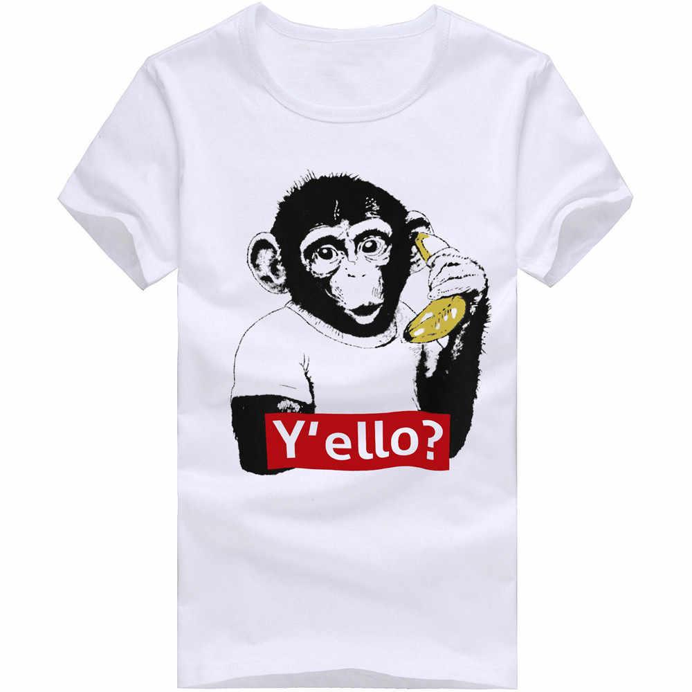 Feitong lo más nuevo 2018 Camisetas estampadas para hombre Camiseta de manga corta blusa L al por mayor camisetas de verano de marca de moda
