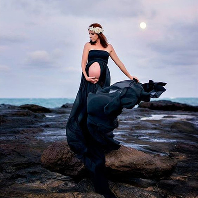 Chiffon Pregnancy Dress Photography Props Maternity Dresses For Photo Shoot Maxi Gown Dresses For Pregnant Women Clothes