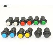 Interruptor momentâneo de botão de 12mm, interruptores de 3a/125vac, 1.5a/250vac, botão momentâneo de retorno automático, 10 peças