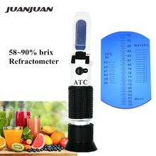 Brix Be Water 3 w 1 refraktometr do miodu 58 ~ 90% refraktometr Brix miernik zawartości cukru przyrządy optyczne bez pudełka 15% taniej