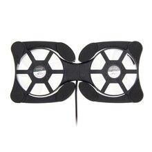 Осьминог вентиляторы двойные cooler охлаждения складная вентилятор pad стенд ноутбук дюймов