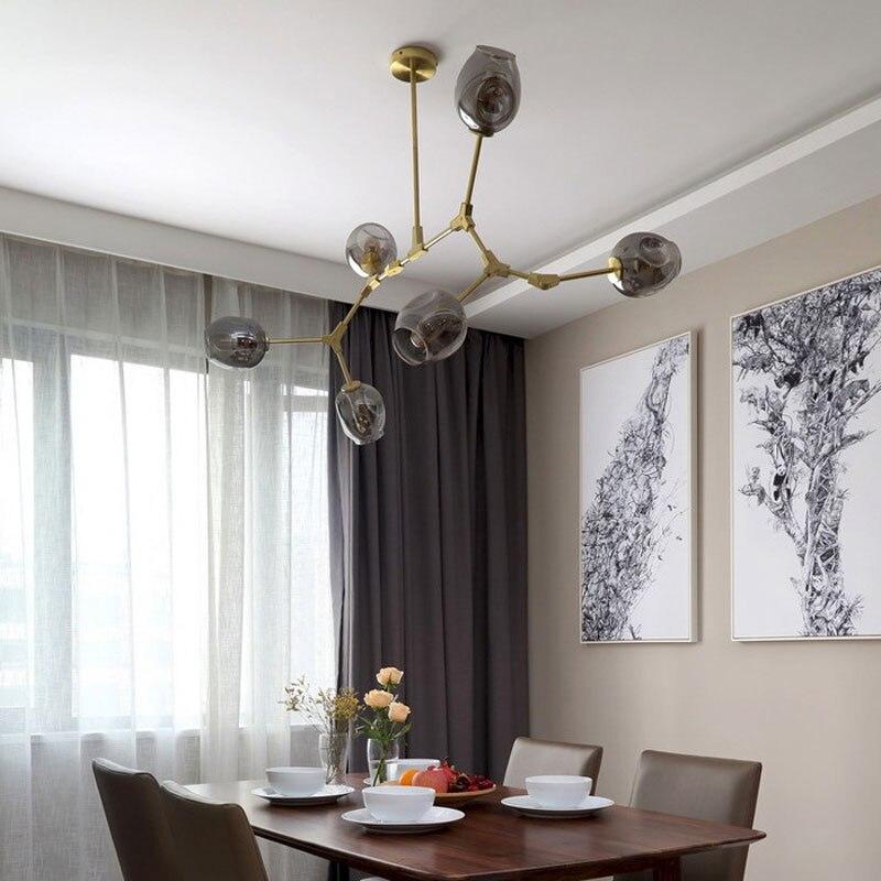 Modern Gl Pendant Light Nordic Dining Room Kitchen Designer Hanging Lamps Avize Re Lighting In Lights From On