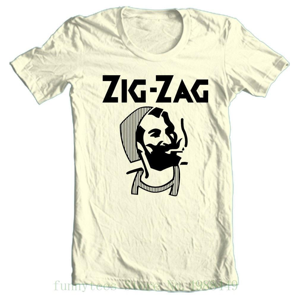 Zig Zag T Shirt Retro Vintage Hippie Style 100% Cotton Graphic Printed Tee Adult Tshirt S-2xl