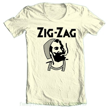 Zig Zag T Shirt Retro Vintage Hippie Style 100% Cotton Graphic Printed Tee Adult Tshirt S-2xl
