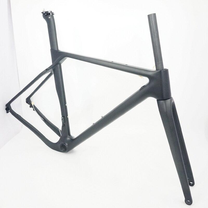 Full Carbon Fiber Cascalho Quadro De Bicicleta Disco incluem Quadro Garfo