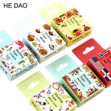 24 Style 1 Pc / Pack Size 15 Mm*10m Diy Yellow Bunny Washi Tapes Masking Tape Cartoon Tapes School Supplies Material Escolar(China)