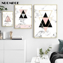 NUOMEGE Geometry Canvas Art Posters and Prints Abstract Painting Nordic Style Wall Pictures for Living Room Modern Home Decor