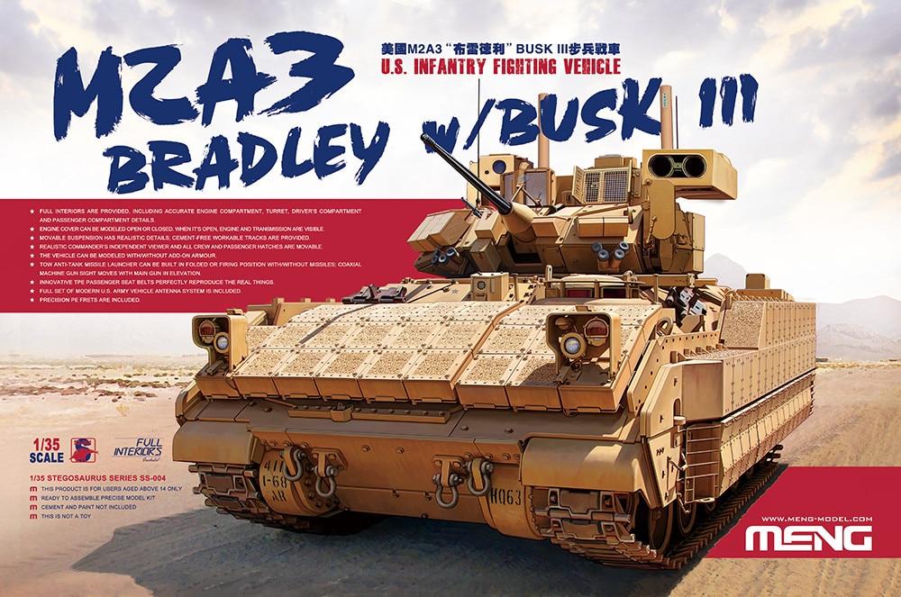 Oyuncaklar ve Hobi Ürünleri'ten Modeli Yapı Setleri'de 1/35 MENG SS004 Bradley M2A3 piyade savaş araç modeli hobi'da  Grup 1