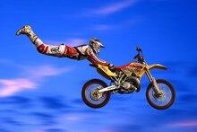 DIY marco de Motocross dirt jump deportes Stunt show de fotos puerta Decoración carteles de arte Póster en Tela de seda