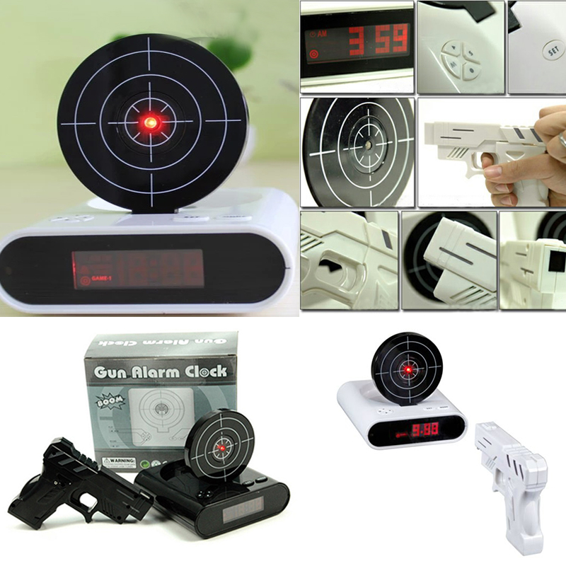 Gun Alarm Clock Target Wake Up Shooting Game Toy Novelty: Online Buy Wholesale Funny Alarm Clocks From China Funny