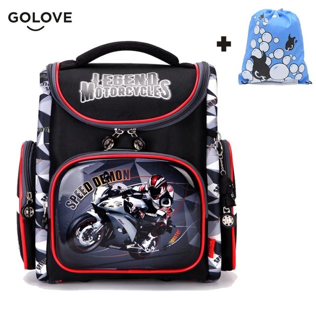e3aadac23d70 Детские школьные сумки для мальчиков ортопедические дышащий рюкзак гоночный  автомобиль для детей школьная сумка 1-