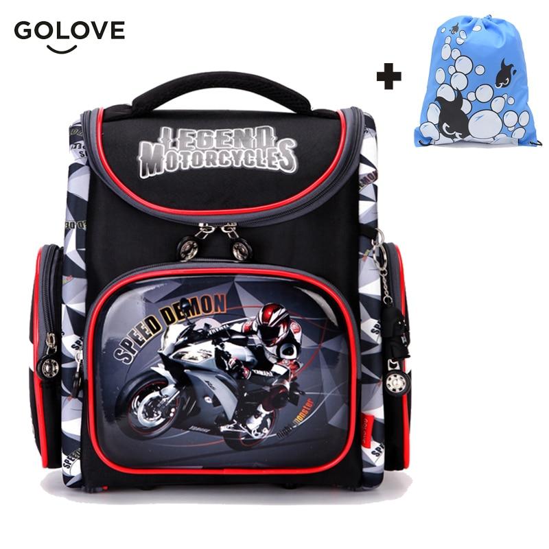 Children School Bags For Boys Orthopedic Breathable Backpack Racing Car Child School Bag 1-5 Grade Boy Knapsack Mochila Escolar
