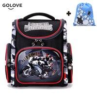 Cool Boys Children School Bags For Boy Orthopedic Breathable Motorcycle Football Backpack Child School Bag Mochila