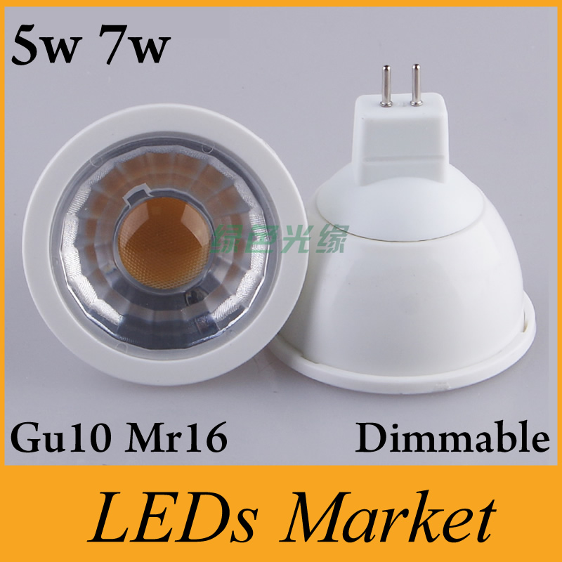 wholesale 5w 7w led spotlight gu10 mr16 e27 e11 dimmable led light lamp bulb ac110